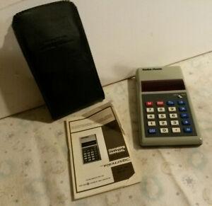 Radio Shack handheld 1977 calculator EC-241 still works w case & directions