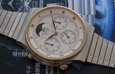 RARE VINTAGE SEIKO QUARTZ CHRONOGRAPH MOONPHASE 7A48-7000 JAPAN GENTS WATCH