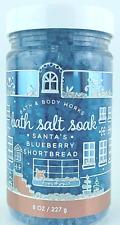 *New* SANTA'S BLUEBERRY SHORTBREAD ~ Bath Salt Soak ~ Bath & Body Works