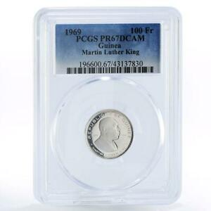 Guinea 100 francs Activist martin Luther King PR67 PCGS silver coin 1969