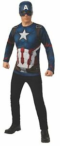 Captain America Shirt Mask Avengers Endgame Fancy Dress Halloween Adult Costume