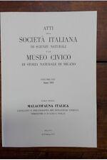 ALZONA C. - Malacofauna italica - Catalogo e bibliografia dei molluschi viventi,