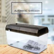 Electric Usb A4 Paper Shredder Strip Cut Shredding Card Document Office Desktop