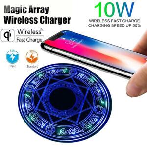 Magic Array QI Wireless Charger 10W Magic Circle Fast Charger Charging Pad Mat