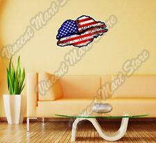 "United States USA Lips Kiss Flag Wall Sticker Room Interior Decor 25""X16"""