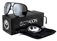 New Dragon B-CLASS Aviator Sunglasses | Matte Black with Silver Ion Mirror Lens
