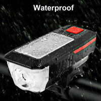 Solar Bicycle Bike Cycling Head Front Rear Lights MTB Tail Lamp USB Rechargeable