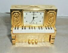 Timex Gold tone Mini Piano Collectable Clock replaced battery