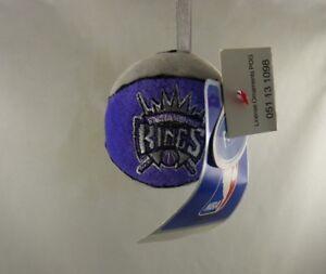 Sacramento Kings ball grey purple Christmas ornament  NBA