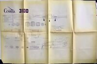 "Vintage CESSNA 310D Airfoils Scale Drawing 3-View Plans 35'9"" Wingspan"