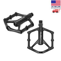 Road Mountain Bike Pedals Flat Aluminum Alloy Sealed Bearing Bicycle MTB 9/16""