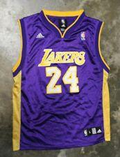 Adidas LA Lakers Kobe Bryant Jersey Size Youth Size Large (14-16) Purple #24