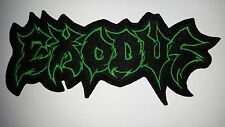 EXODUS  GREEN   LOGO  SHAPED   EMBROIDERED  PATCH