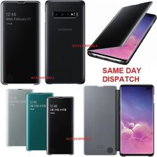Original Samsung Clear View Flip Case Galaxy S10+ Plus smart phone cover smg975f