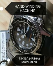 Seiko SKX013 MOD NH36A (4R36) movement HAND-WINDING HACKING Warranty Diver watch