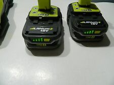 RYOBI 18 Volt Lithium-ion   Batteries  and Charger