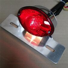 Red License Plate Brake Tail Light For Ducati Monster Universal Cruiser Street