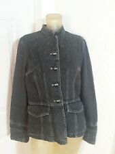 Spiegel ladies black denim jacket sz 16