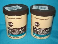 2 NEW IN JAR TCB NO BASE CREME SUPER HAIR RELAXER WITH PROTEIN & DNA 7.5 OZ.