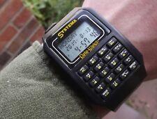 Vintage retro Systema Data calculator alarm watches c.1980s