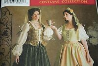 New Renaissance Fair Sewing Pattern Womens size 4 6 8 Dresses Skirts Shirt  -C=