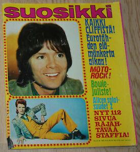 ALICE COOPER, CLIFF RICHARD, URIAH HEEP, MARC BOLAN in SUOSIKKI magazine 1973.