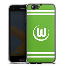 HTC One A9 s Silikon Hülle Case HandyHülle - Vfl Wolfsburg Banderole grün