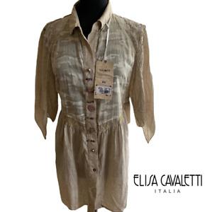 ELISA CAVALETTI BOTTEGA ITALIAN DESIGNER *New/Tags* XL SUMMER LONG TOP Soft Camo
