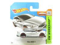Hotwheels Tesla Model S Silver HW Workshop 217/250 Short Card 1 64 Scale Sealed
