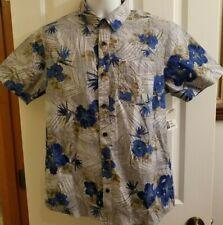 VANS Short Sleeve Button-Up Front Pocket Aloha Shirt Floral Hawaii Small