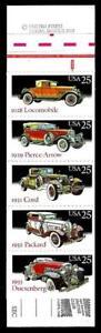 1¢ WONDER'S ~ SEALED MINT STAMP BOOKLET W/ 25¢ CLASSIC CARS (FV = $5.00) ~ T298