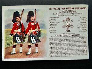 History & Tradition QUEEN'S OWN CAMERON HIGHLANDERS Postcard Gale & Polden No.96