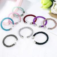 Women Crystal Shiny Open Bangles Cuff Bracelet Bangle Fashion Jewelry Gifts New