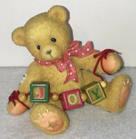 CHERISHED TEDDIES 1996 YOU ALWAYS BRING JOY CHRISTMAS BLOCKS BEAR RETIRED 176087