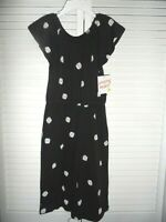 Adorable Jumping Beans girls size 5 black white polka dots jumper romper NWT
