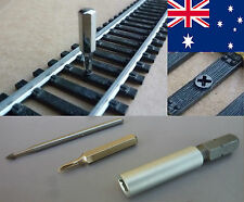 SCREWS FOR HORNBY SCALE 00, with BIT + MILLING CUTTER / POSTAGE-FREE (AUS)