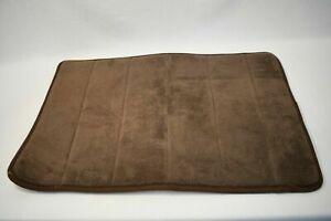 Brown Memory Foam Plush Thick Bathroom Mat Non Slip Backing Super Absorbent Soft