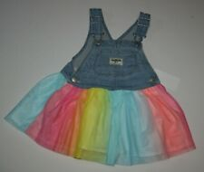 New OshKosh 2T 3T 4T Girls Jumper Dress Tulle Rainbow...