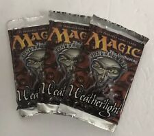 Magic Weatherlight Factory Sealed English Magic the Gathering 3 Pack Lot Gem