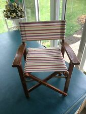 Vintage Children Kids Doll Fold Up Wooden Chair Multi Color