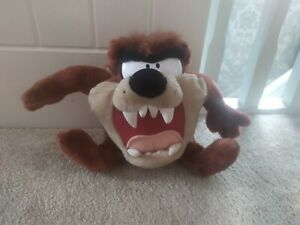 Looney Tunes Vintage 1997 Tazmanian Devil Plush Soft Toy Taz