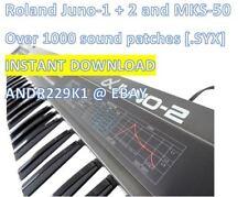 Roland Alpha Juno/mks-50 - 1000+ parches sonidos (. syx) - Instant descarga