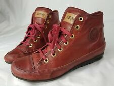 Pikolinos Ladies Red Leather Sneakers High Top 38 lace up