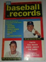 Vintage 1957 DELL Baseball Records Magazine featuring Ted Williams & Stan Musial