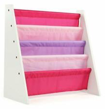 Tot Tutors Wo697 Kids Book Rack Storage Bookshelf, White/Pink Purple (Friends
