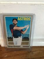 2019 TOPPS HERITAGE #407 GEORGE SPRINGER ASTROS MINT SHORT PRINT HIGH#