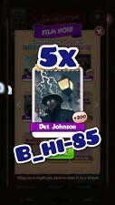 Coin Master Cards 5x Det Johnson