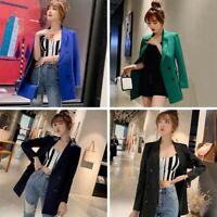 Women's Casual Lapel Blazer Suit Jacket Long Sleeve Slim Cardigan Coat Outwear
