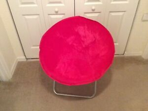 Mainstays: Faux-fur Foldable Chair in Dark Pink