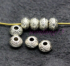 Tibetan Silver Bail Style Spacer Beads Findings 6.5x6mm 30-1000pcs hole 2mm K#